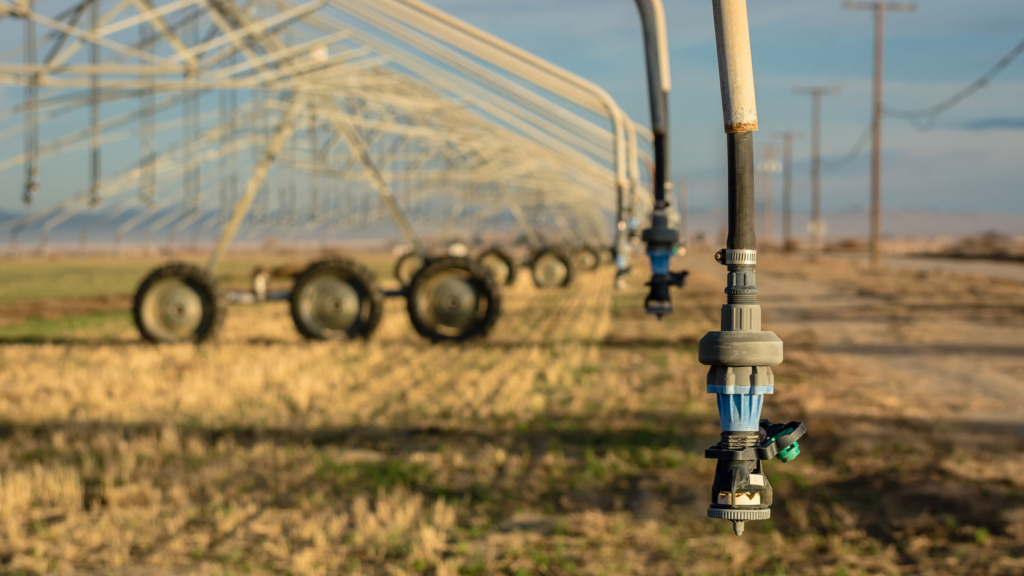 Center pivot irrigation system. Lancaster, CA.
