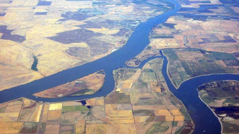 Delta Water Aerial View